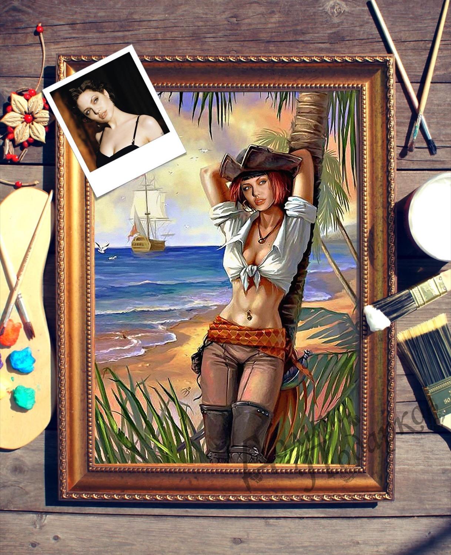 Портрет по фото *Девушка на острове*