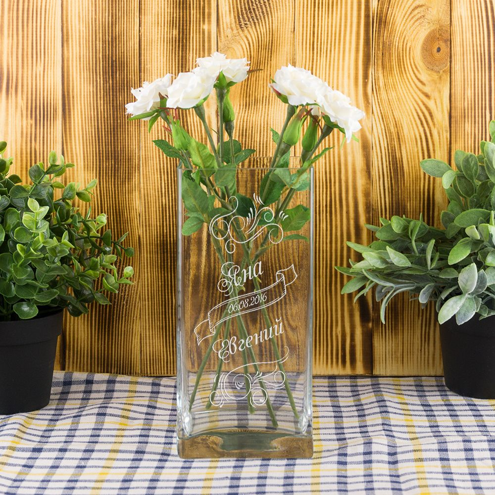 Ваза для цветов «Свадебная» (квадро)
