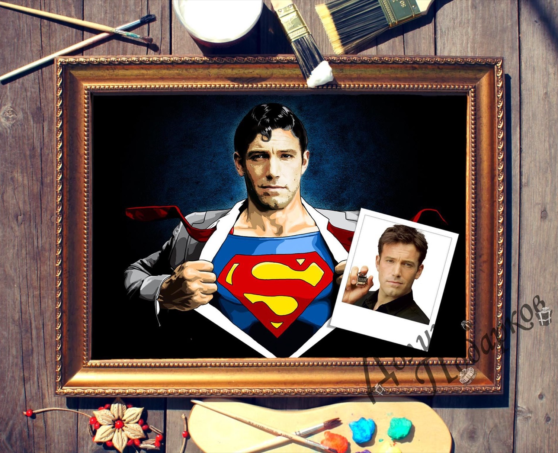 Портрет по фото *Супермен*
