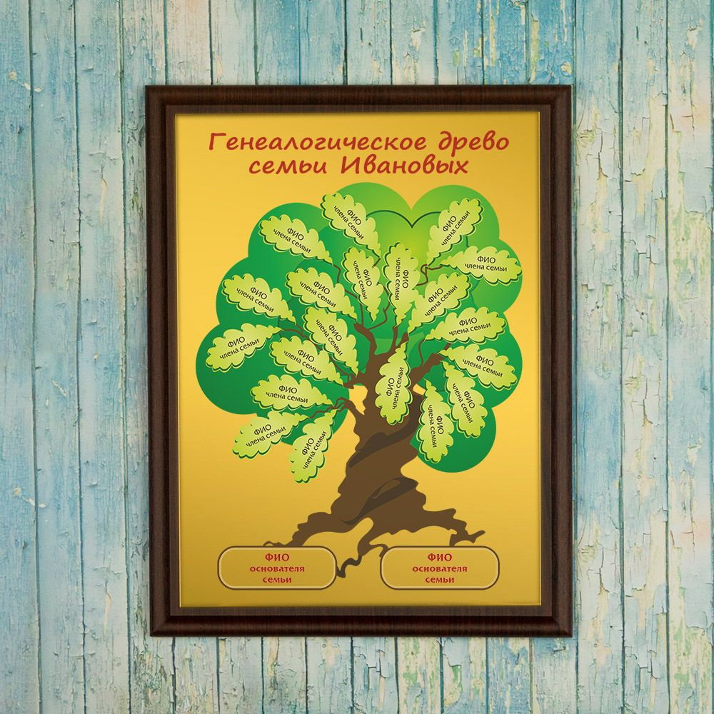 Подарочный диплом (плакетка) *Генеалогическое древо семьи*