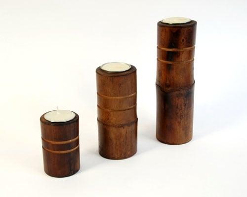 Набор свечей из бамбука Мини