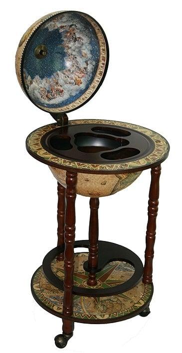 Глобус-бар *Сокровища древнего мира* в напольном исполнении
