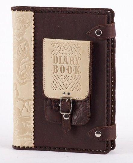 Ежедневник с кожаной обложкой формат А5 (двухцветный)