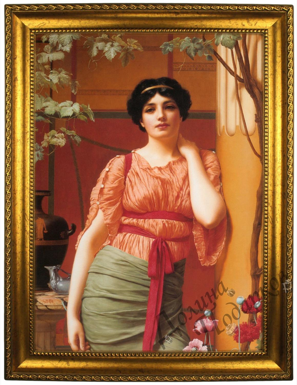 Портрет по фото *В платье с красным поясом*
