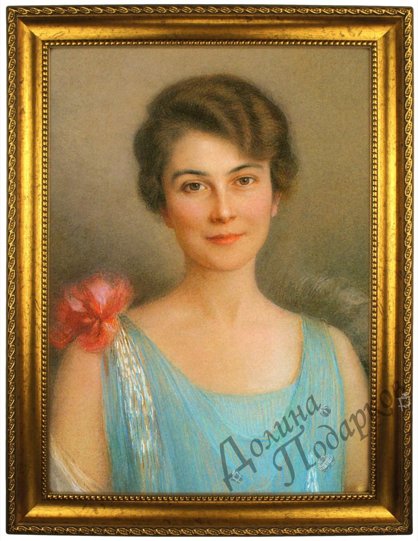 Портрет по фото *Женщина в голубом*