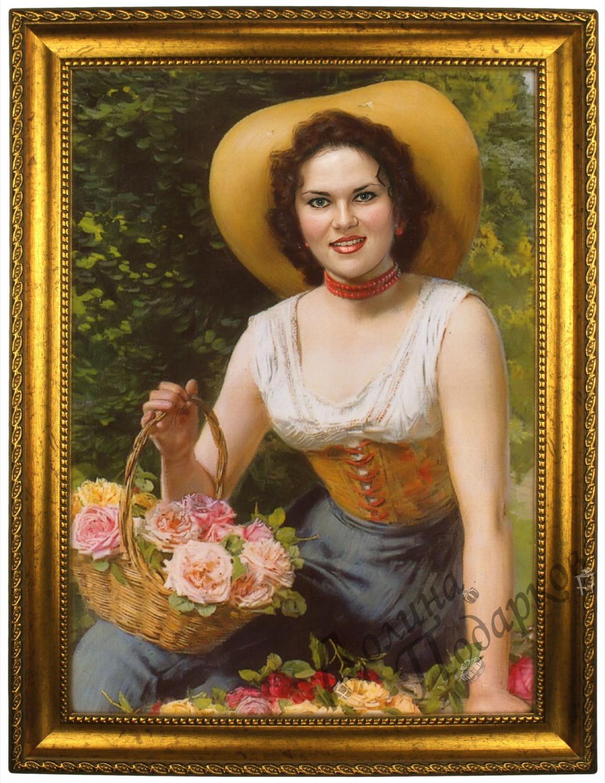 портрет по фото на холсте женский достаточном количестве установленных