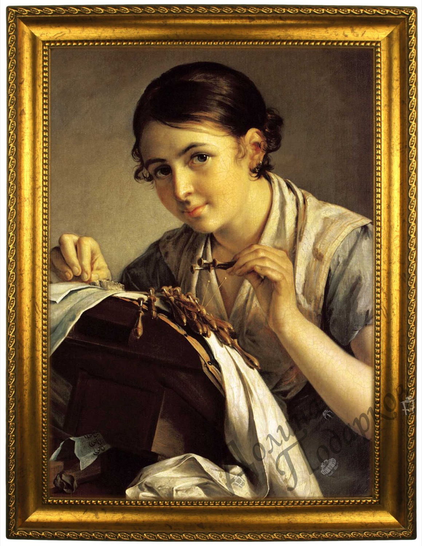 Портрет по фото *За вышивкой*