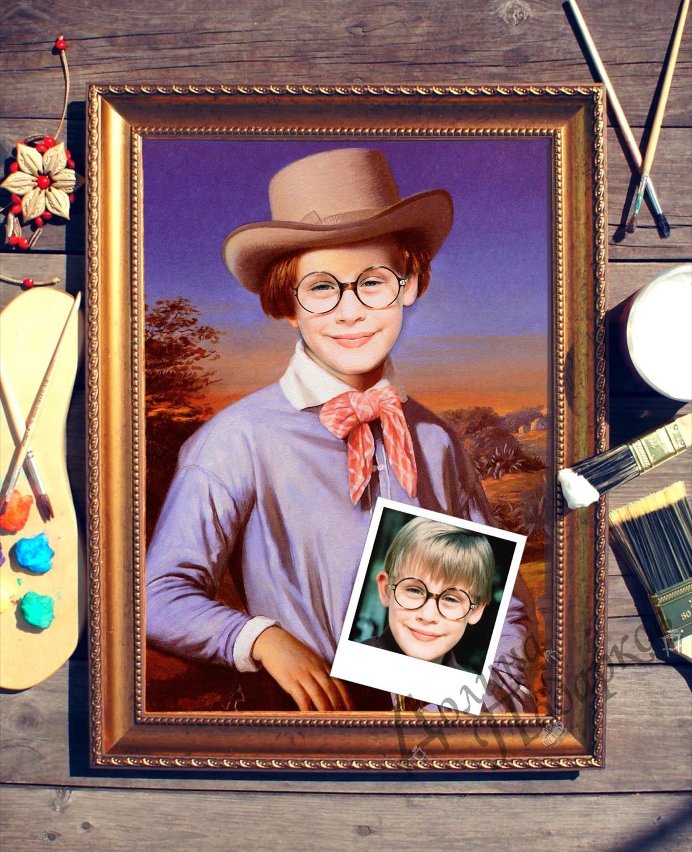Портрет по фото *Мальчик в шляпе*