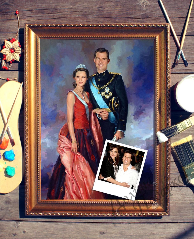 Парный портрет по фото *Принцесса и принц*