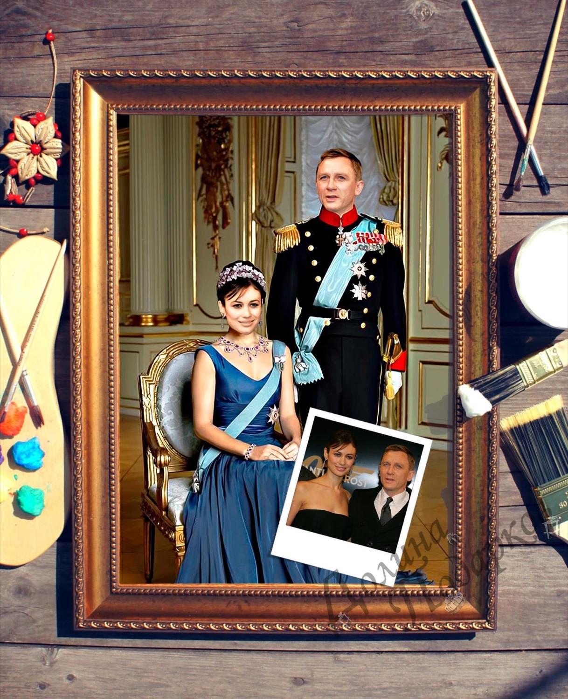 Парный портрет по фото *Принц и принцесса*
