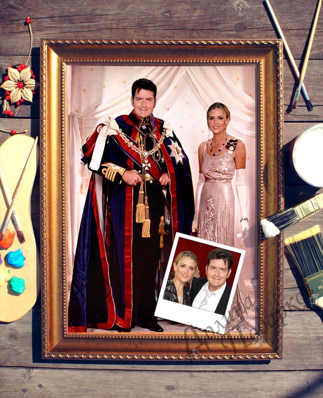 Парный портрет по фото *Королевская чета*