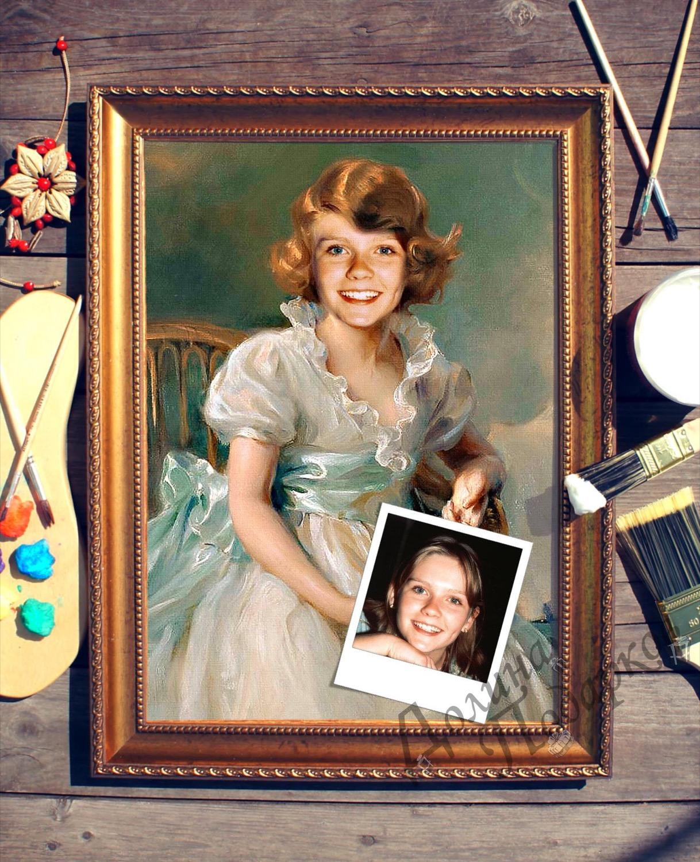 Портрет по фото *Маленькая принцесса*