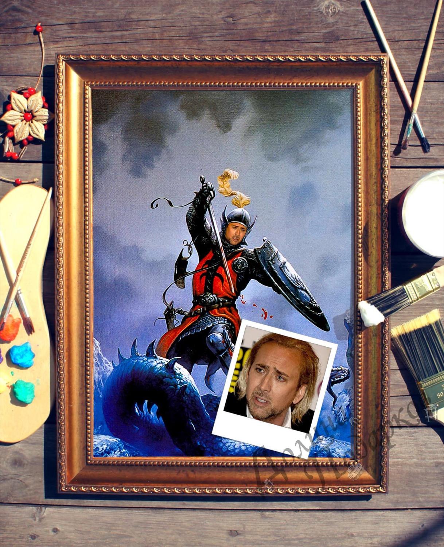 Портрет по фото *Рыцарь - победитель драконов*