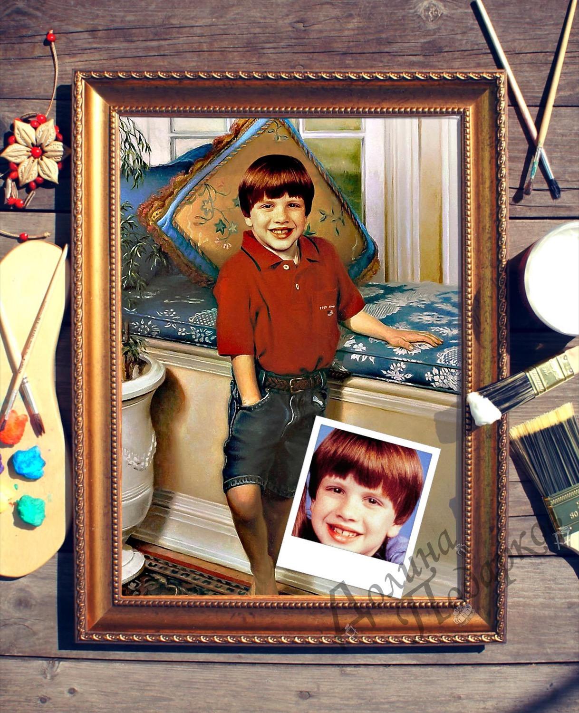 Портрет по фото *Любимец семьи*
