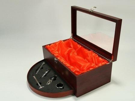 Винный набор - кофр с выдвижным ящиком