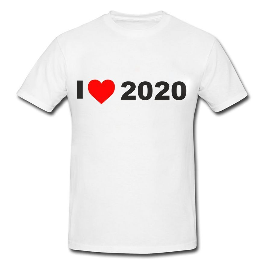 Футболка *I love 2020* мужская