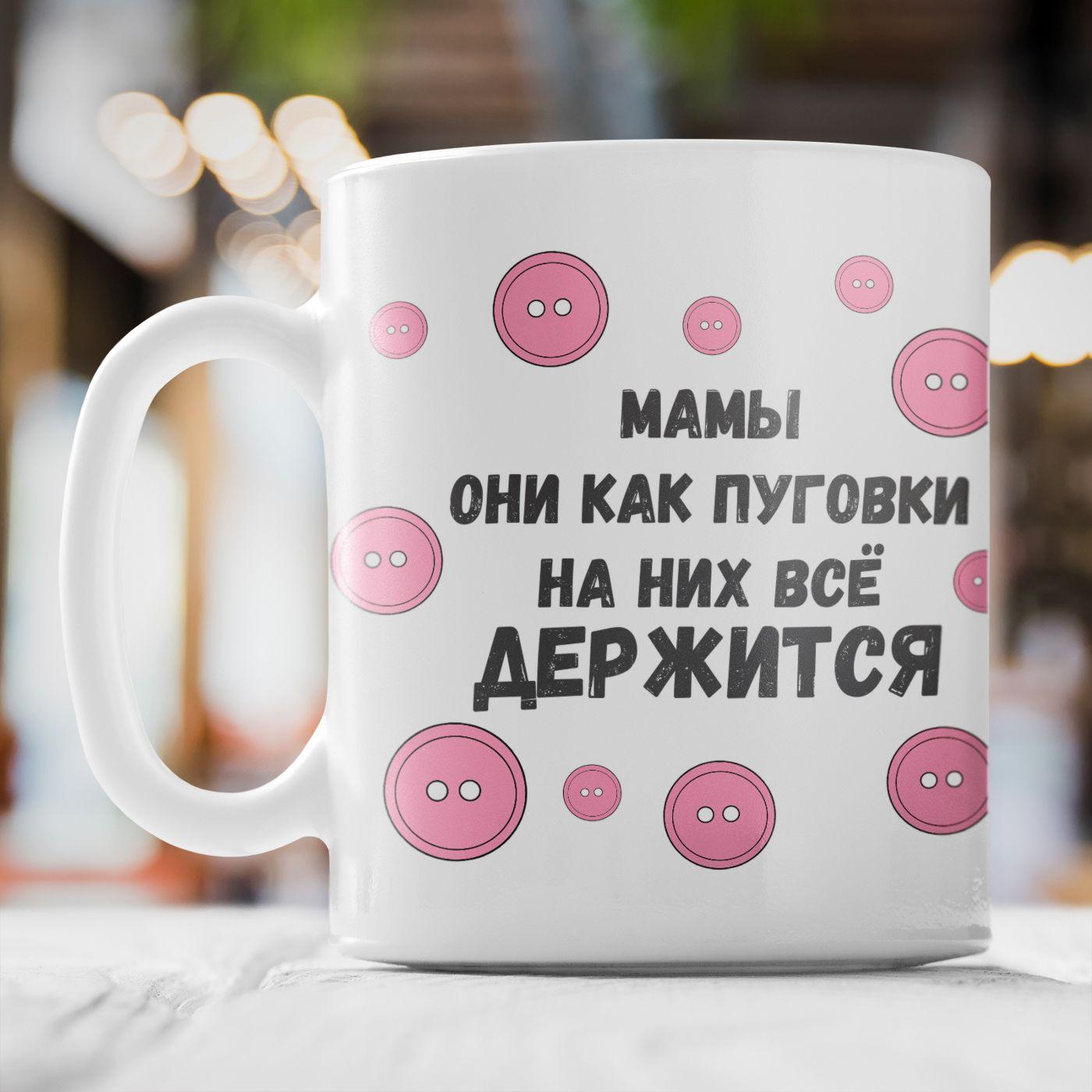 Кружка *Мамы как пуговки...*