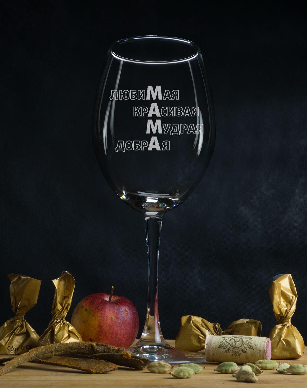 Бокал для вина «Маме с любовью»