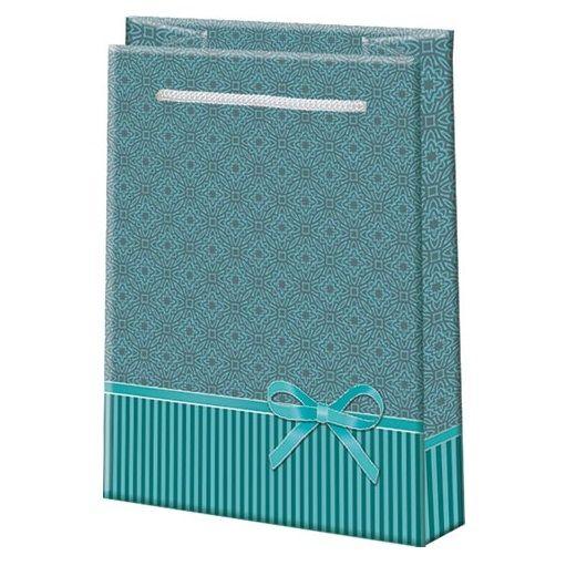Подарочный пакет Бирюзовая классика 11х13 см.
