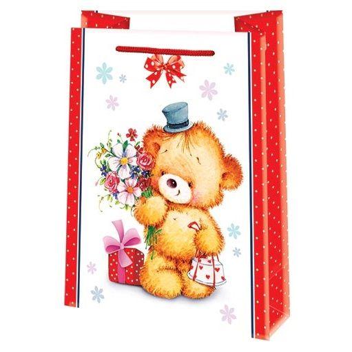 Подарочный пакет Медвежонок 18х23 см.