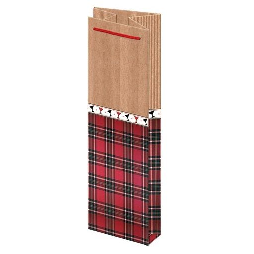 Подарочный пакет Бордо 14х35 см.