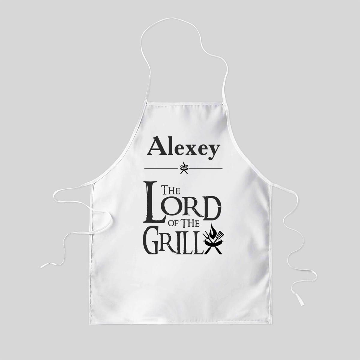 Фартук именной «the LORD of the GRILL»